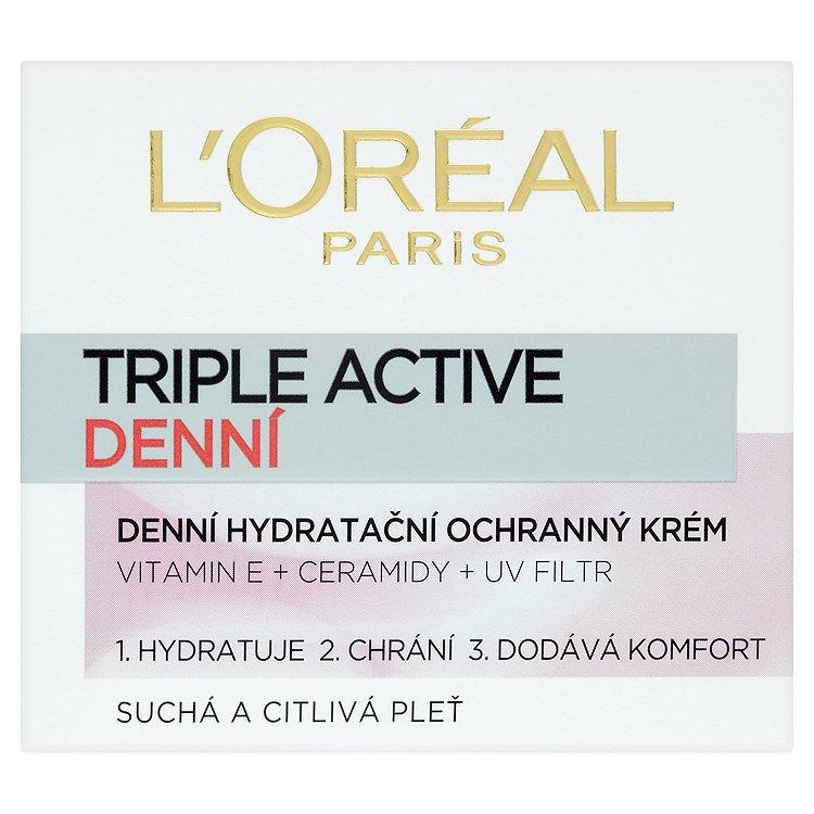 Fotografie L'Oréal Paris Triple Active, denní hydratační ochranný krém 50 ml