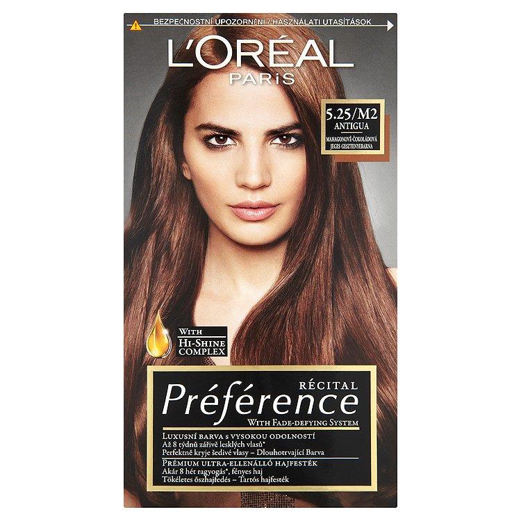 Fotografie L'Oréal Paris Préférence barva na vlasy odstín 5.25/M2 Antigua