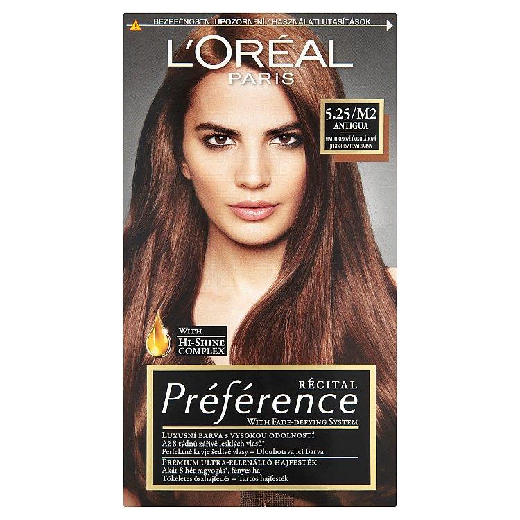 L'Oréal Paris Récital Préférence Antigua mahagonově-čokoládová 5.25/M2