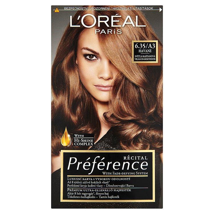 L'Oréal Paris Récital Préférence Havane světlá kaštanová 6.35/A3