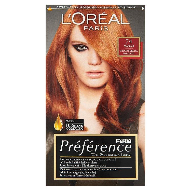 L'Oréal Paris Féria Préférence Mango intenzivní měděná 74