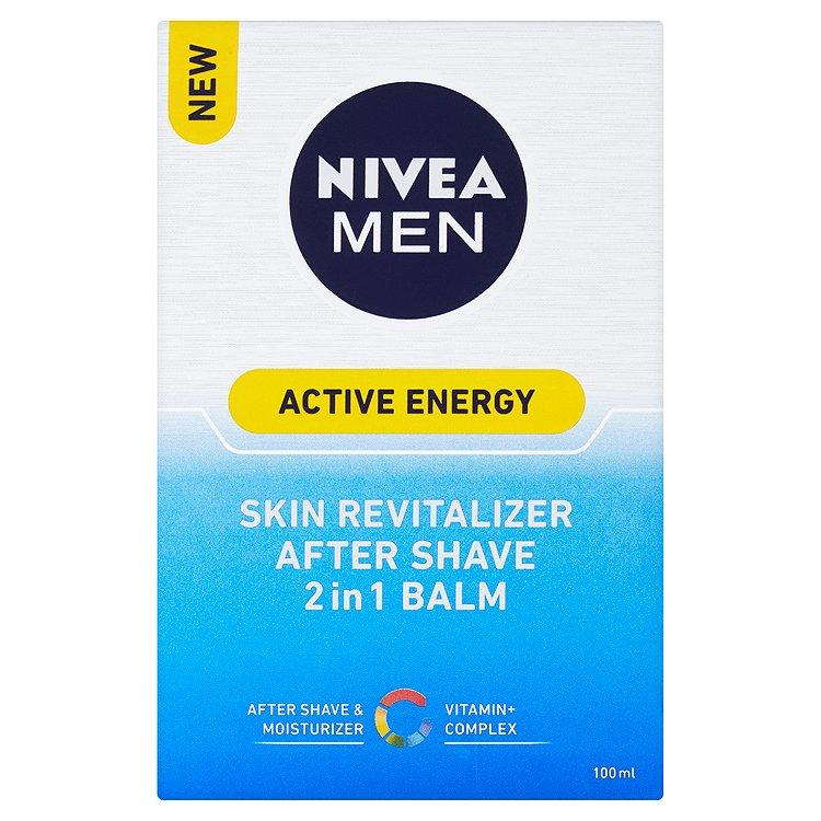 Fotografie Nivea Men Active Energy revitalizační balzám po holení 2 v 1 100 ml