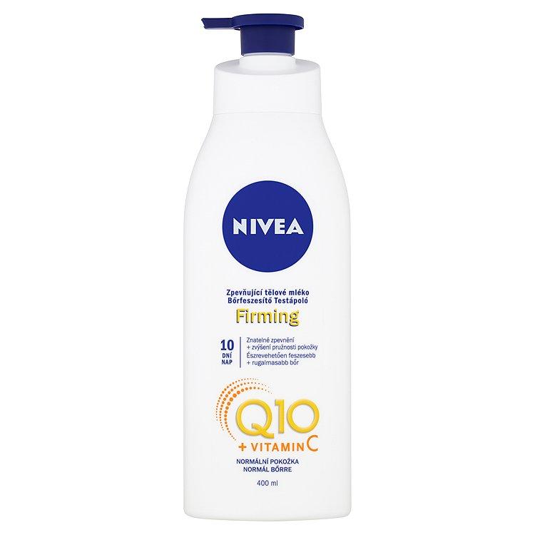 Fotografie Nivea Q10 Energy+ Zpevňující tělové mléko 400 ml