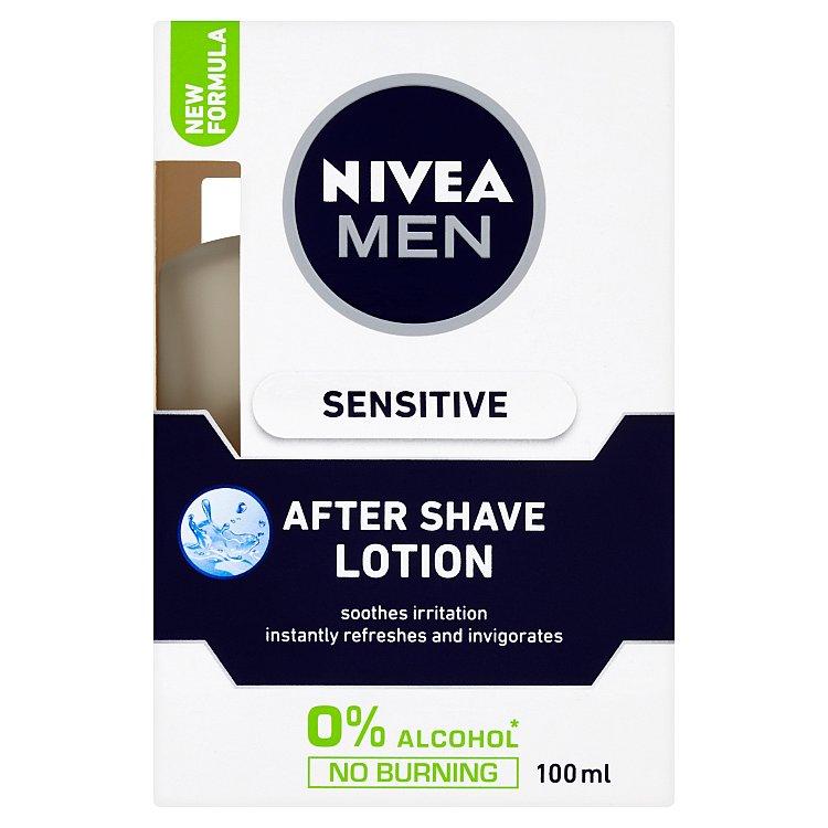 Fotografie Nivea - Men Sensitive After Shave Lotion 100ml Voda po holení M Voda po holení pro podrážděnou ple
